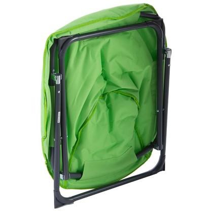 Купить Стул садовый круглый 880x805x780 мм складной металл цвет зелёный дешевле