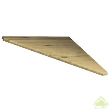 Ступень треугольная 45° 40x900x900 мм бук цельный