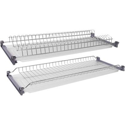 Купить Сушилка для посуды двухъярусная с поддоном для верхнего шкафа 80 см дешевле