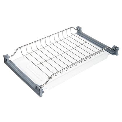 Купить Сушилка для посуды с двумя поддонами для верхнего шкафа 450 мм нержавеющая сталь цвет хром дешевле
