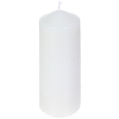 Свеча-столбик 6х15 см цвет белый