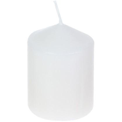 Купить Свеча-столбик 6х8 см цвет белый дешевле