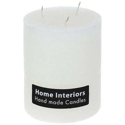 Свеча-столбик Рустик 10х12 см цвет белый