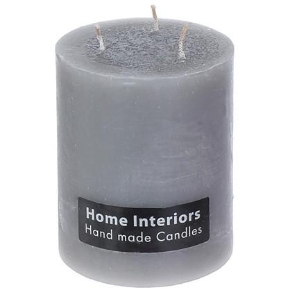 Купить Свеча-столбик Рустик 10х12 см цвет серый дешевле