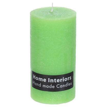 Свеча-столбик Рустик 7х13 см цвет зелёный