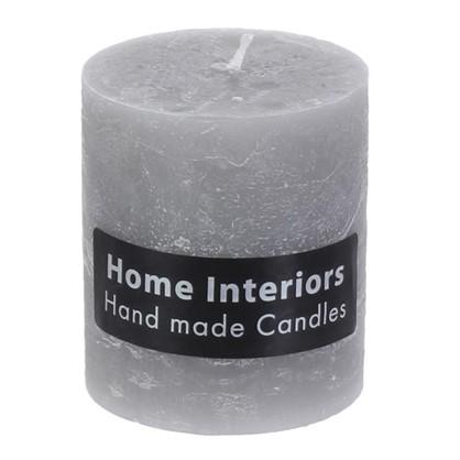 Свеча-столбик Рустик 7х8 см цвет серый