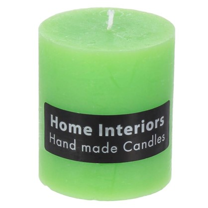 Купить Свеча-столбик Рустик 7х8 см цвет зелёный дешевле