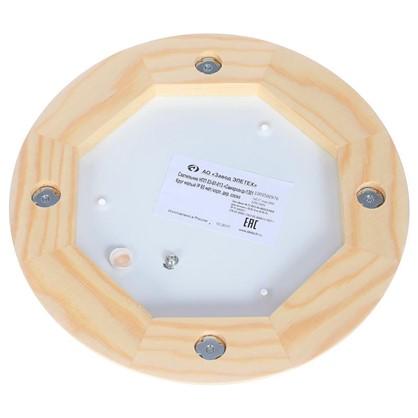 Светильник для сауны круглый 1xE27x60 Вт цвет сосна IP65