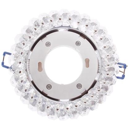 Светильник Эра DK84 под лампу GX53 13 Вт 220 В цинковый сплав/стекло цвет хром/прозрачный