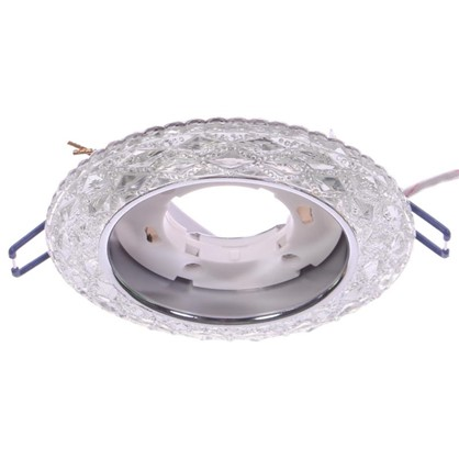 Светильник Эра с белой светодиодной подсветкой GX53 металл цвет прозрачный