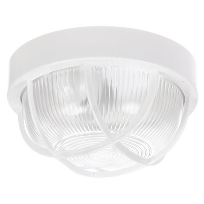 Светильник круглый 1хЕ27х60 Вт IP44 пластик цвет белый