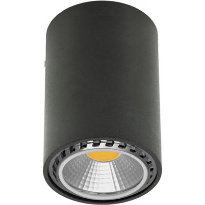 Накладной светильник цилиндрический цоколь GU10 8 см цвет черный