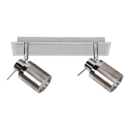 Светильник накладной Escada 2хGU10 IP44 цвет хром/никель