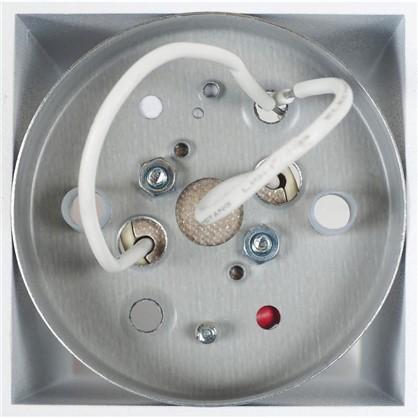 Накладной светильник квадратный цоколь GU10 8 см цвет белый