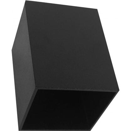 Накладной светильник квадратный цоколь GU10 8 см цвет черный