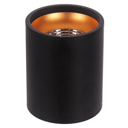 Накладной светильник светодиодный 12 Вт 3000 K 100 мм цвет черный/золотой
