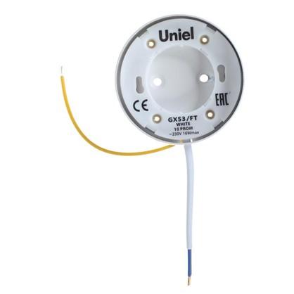 Накладной светильник Uniel GX53 цвет белый