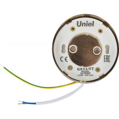 Купить Накладной светильник Uniel GX53x16 Вт цвет никель дешевле