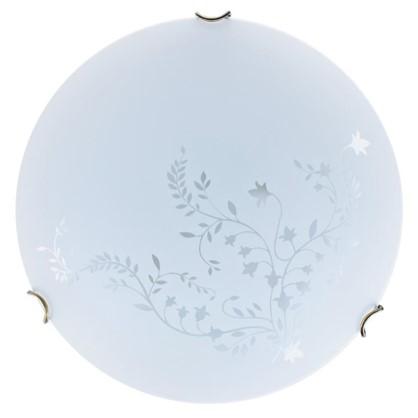 Светильник настенно-потолочный Kusta 2xE27x60 Вт цвет белый/бронза