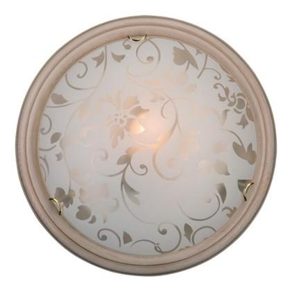 Светильник настенно-потолочный Provence Crema 2xE27x60 Вт цвет бежевый