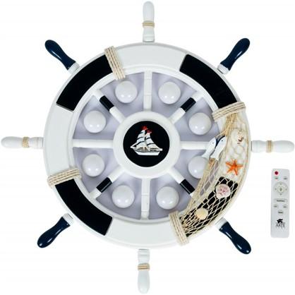 Светильник настенно-потолочный светодиодный Timone 14 м² цвет белый/синий