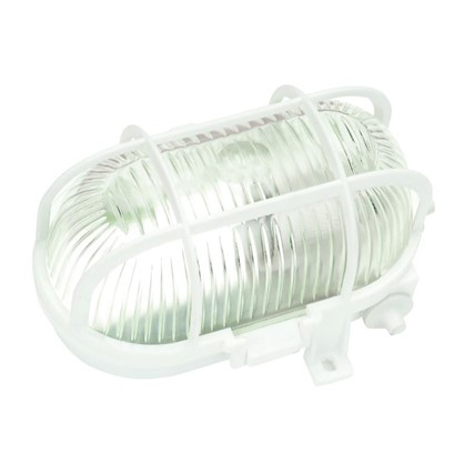 Светильник овальный 1хЕ27х60 Вт IP44 цвет белый