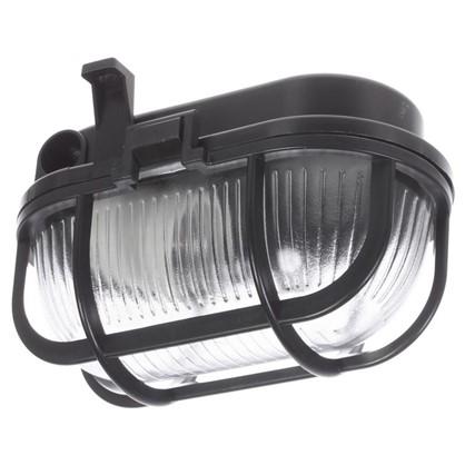 Светильник овальный 1хЕ27х60 Вт IP44 цвет черный
