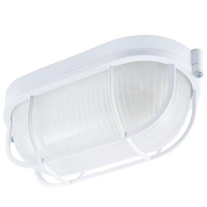 Светильник овальный с решеткой НПБ 1402 1xE27x60 Вт цвет белый IP54