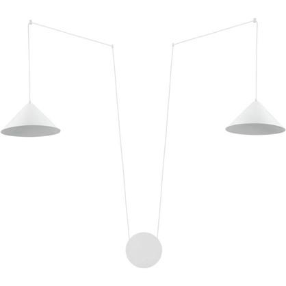 Светильник подвесной Inspire Somerset 2 лампы 6 м2 подключение в розетку с диммером цвет белый