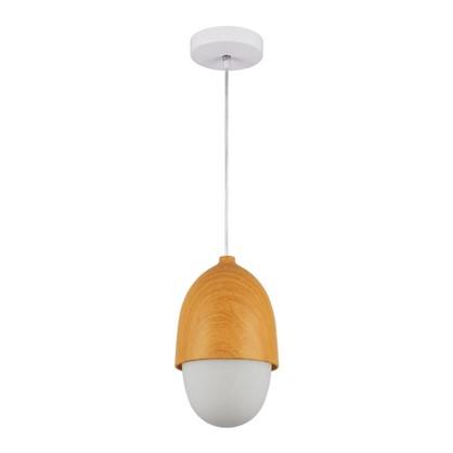 Светильник подвесной Woody PL40WE27-02 1хЕ27х40 Вт цвет белый/дерево