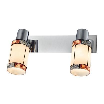 Купить Светильник поворотный Eurosvet Tiffany 20054/2 2хЕ14х40 Вт цвет хром дешевле