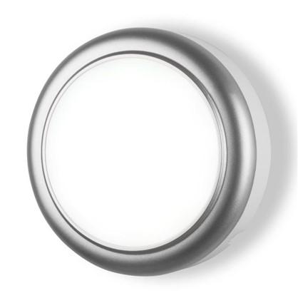 Светильник светодиодный 15 Вт цвет серебро IP54