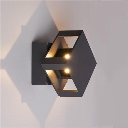 Купить Светильник светодиодный фасадный Techno 1606 12 Вт цвет черный дешевле