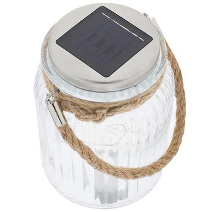 Светильник светодиодный на солнечных батареях 12x006 Вт цвет прозрачный