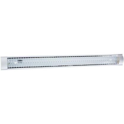 Светильник TDM Electric ЛПО3017 с решеткой 2х36 Вт металл/пластик цвет белый