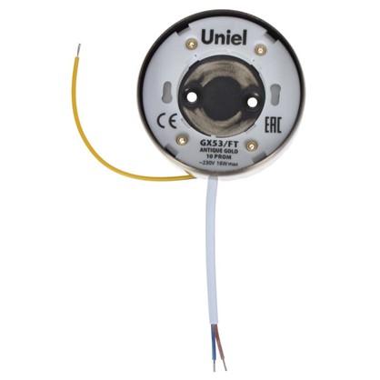 Купить Светильник точечный накладной Uniel GX53 цвет золото дешевле