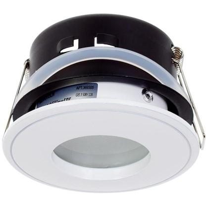 Светильник встраиваемый Aqua цоколь GU5.3 50 Вт цвет белый IP65