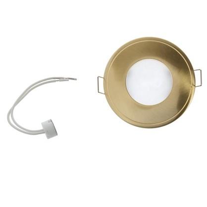 Купить Светильник встраиваемый Aqua круглый цоколь GU5.3 50 Вт цвет золото IP65 дешевле