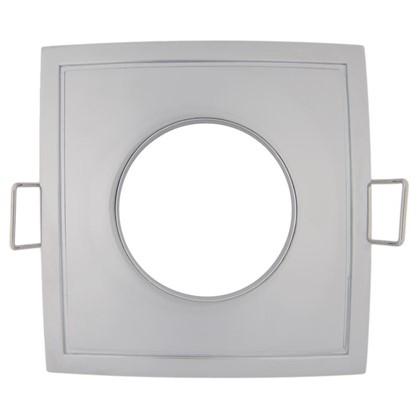 Светильник встраиваемый Aqua квадратный цоколь GU5.3 50 Вт цвет хром IP65