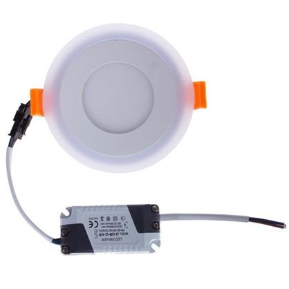 Встраиваемый светильник Gauss Backlight BL114 круглый 3+3 Вт свет теплый белый