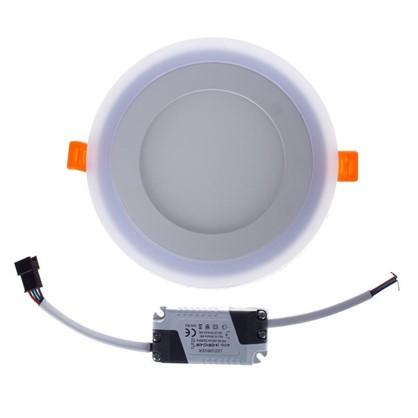 Встраиваемый светильник Gauss Backlight BL116 круглый 6+3 Вт свет теплый белый