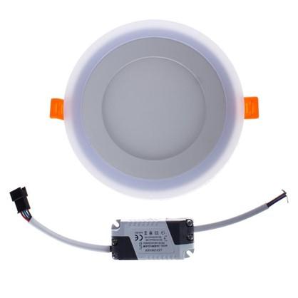 Встраиваемый светильник Gauss Backlight BL117 круглый 6+3 Вт свет холодный белый