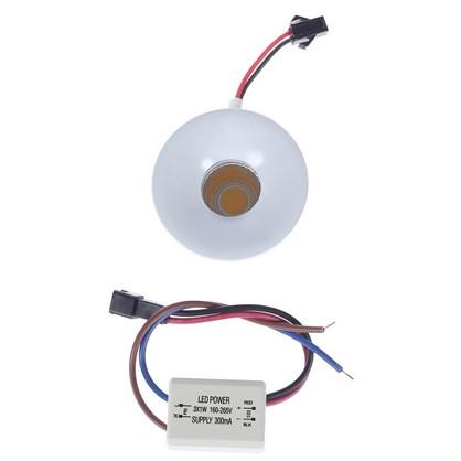 Встраиваемый светильник мебельный светодиодный 357700 3 Вт 160-265 В