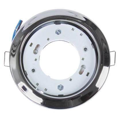 Встраиваемый светильник R75 цоколь GХ53 13 Вт цвет хром