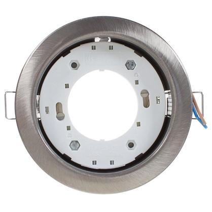 Встраиваемый светильник R75 цоколь GХ53 13 Вт цвет сатин никель