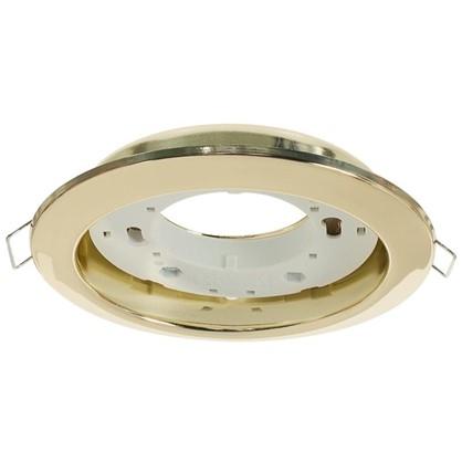 Встраиваемый светильник R75 цоколь GХ53 13 Вт цвет золото