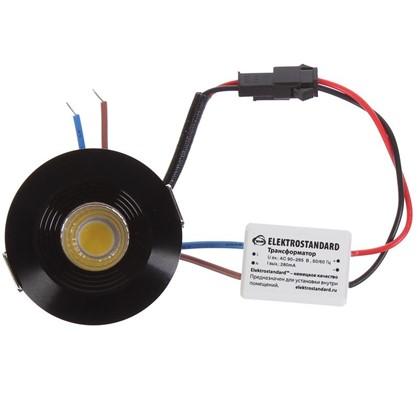 Встраиваемый светильник светодиодный 9903 COB 3 Вт цвет черный
