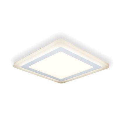 Встраиваемый светильник светодиодный Gauss Backlight BL124 квадратный 12/4 Вт 3000 K алюминий/акрил цвет белый