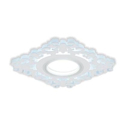 Купить Встраиваемый светильник светодиодный Gauss Backlight BL130 квадратный GU 5.3 3 Вт 4000 K алюминий/акрил цвет белый дешевле