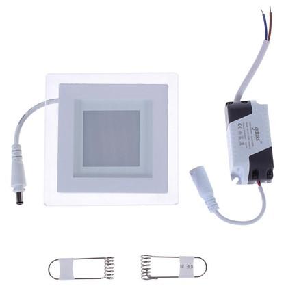 Встраиваемый светильник светодиодный квадратный Gauss 6 Вт стекло свет нейтральный